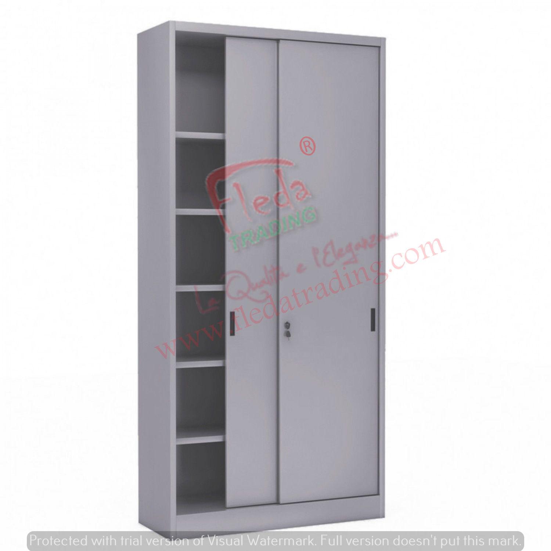 Armadio in Metallo Ufficio / Archiviazione Ante Scorrevoli Dim. 150x45x250h cm