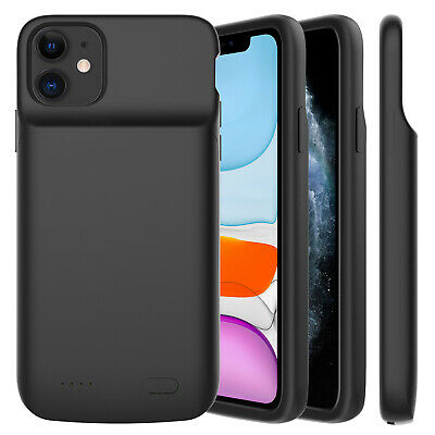 For iPhone 11/11 Pro Max External Battery Charger Case Power Bank Charging Cover