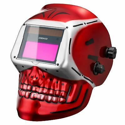 Deko Auto Darkening Hood Welding Helmet Solar Powered Mig Tig Arc Welder Mask