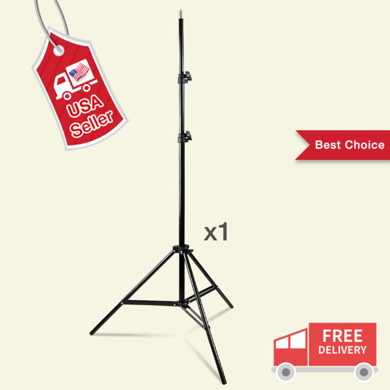 "86.5"" Photography Studio Light Tripod Holder Flash Softbox Support Stand New US"