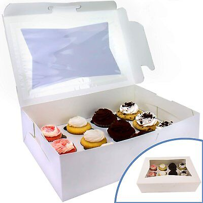 Boxes For Cupcakes (Pro-Quality Bakery Boxes for Cupcakes with Display Window and Cupcake)