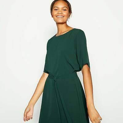 JDY(Jacqueline de Yong) - Dark Green 'Amanda' Knee Length Dress- Size 10