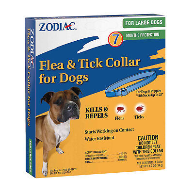 Zodiac Flea & Tick Collar for Large Dogs (7 Months Protection)   Free Shipping