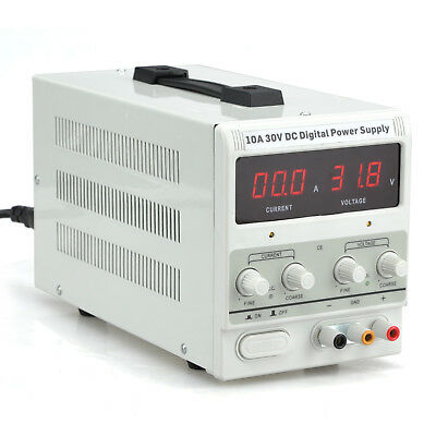 10a 30v Dc Power Supply Adjustable Dual Digital Variable Precision Lab Grade
