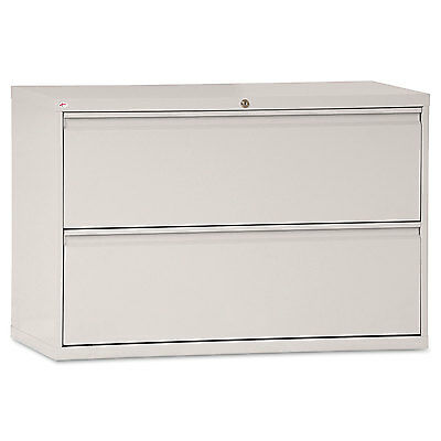 Alera Two-drawer Lateral File Cabinet 42w X 19-14d X 28-38h Light Gray