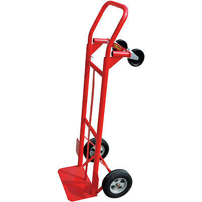 Hand Truck 600 Lb. Capacity 2-in-1 Convertible Dolly Trolley Moving Cart