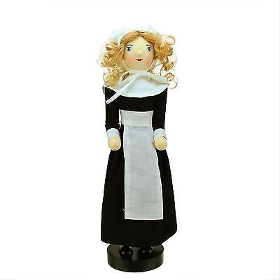 "14"" Pilgrim Woman Decorative Wooden Fall Harvest Thanksgiving Nutcracker"
