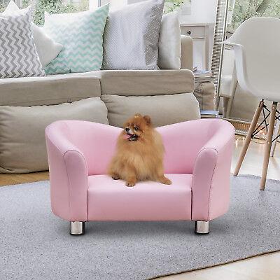 Luxus Hundesofa Hundecouch Kunstleder Katzen Sofa Hundebett Haustier Rosa✔Wasserabweisend ✔Abnehmbare Füße ✔Pflegeleicht