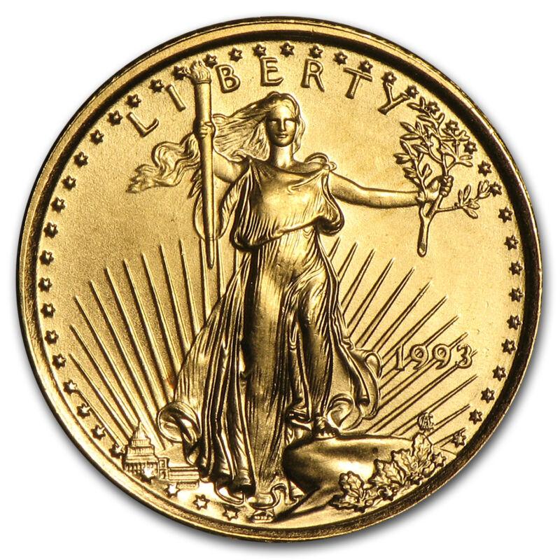 1993 1/10 Oz Gold American Eagle Bu - Sku #4702