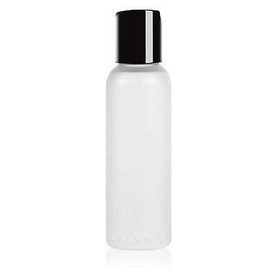 SHANY Frosted Travel-ready Cosmo Bullet Bottle with Black Lid - 2-ounce 2 Ounce Travel Bottle
