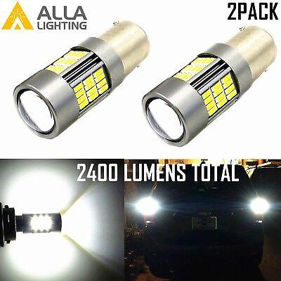 Alla Lighting 1157 54-LED Turn Signal Bulb Blinker Brake Tail Marker Light,White