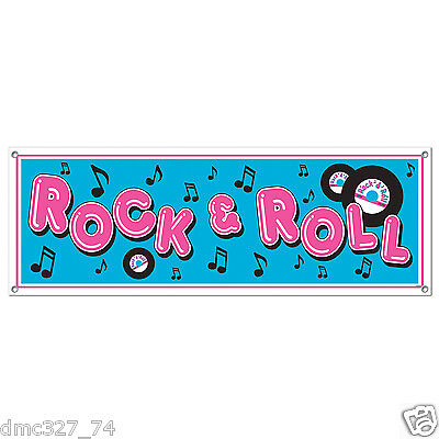 1950s 50s Sock Hop Grease Party Decoration SIGN BANNER 60
