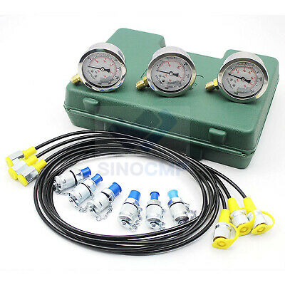 Excavator Hydraulic Pressure Test Kit Hydraulicpressuregauge Diagnostic Tool