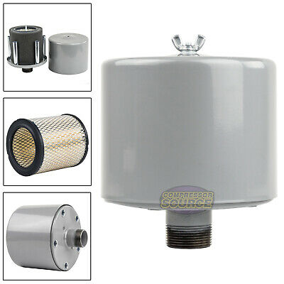 1.25 Inch Air Compressor Intake Filter Silencer Metal Housing Canister U.s.a.