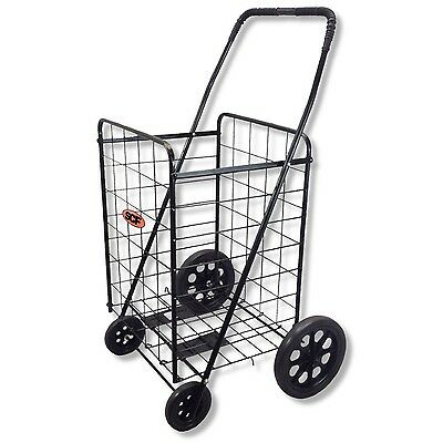 Folding Shopping Cart Basket Laundry Grocery Travel 8001 BLK
