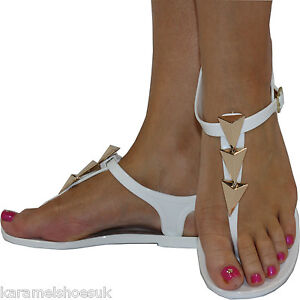 WOMENS LADIES JELLY JELLIES TOE-POST FLAT BEACH SUMMER SANDALS SHOES SIZE 3 - 8
