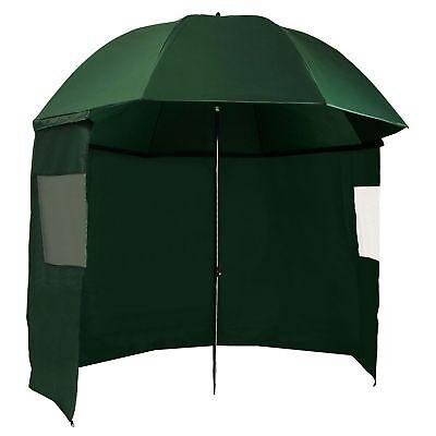 CampFeuer Angelschirm 300 cm mit Umhang, Schirmzelt,  Seitenwand u. Sichtfenster
