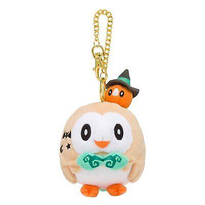 Pokemon Center Original Pokemon Halloween Time Plush Mascot Key Rowlet JAPAN