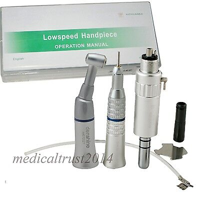 Usa Dental Slow Low Speed Handpiece Push Air Motor E-type Set Kit 4 Hole Fit Nsk