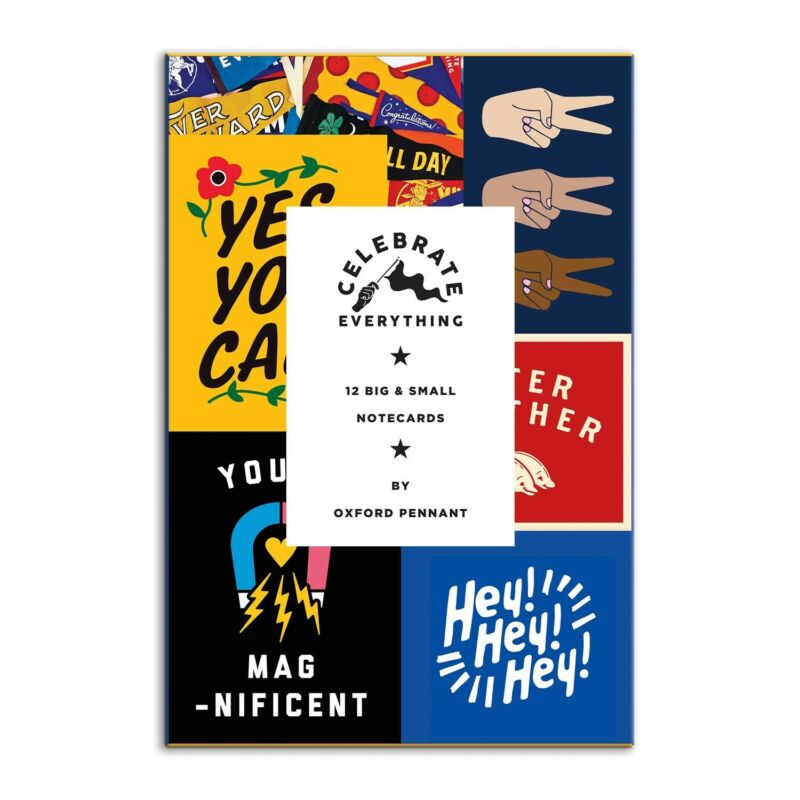 Celebrate Everything Notecard Set 12 Notecards Multiple Sizes FREE SHIPPING