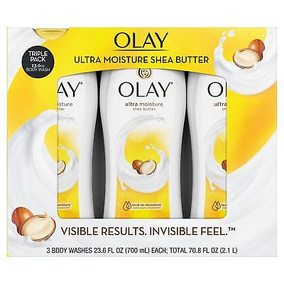 Olay Ultra Moisture Body Wash 23 6 Fl  Oz   3 Pack   Free Shipping