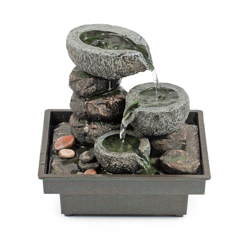Giardino Fontana Zen Feng Shui con Pietre in Poliresina da Interno