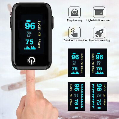 Finger Tip Pulse Oximeter Blood Oxygen Meter Spo2 Heart Rate Monitor Saturation