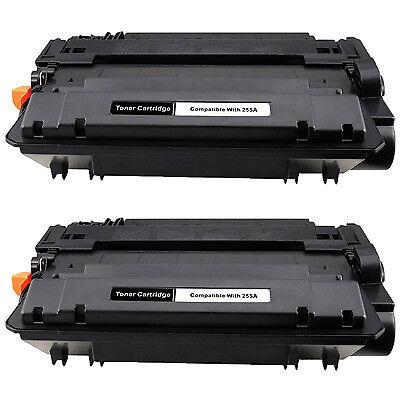 2PK CE255A 55A Toner Cartridge for HP LaserJet Enterprise flow MFP M525c P3010