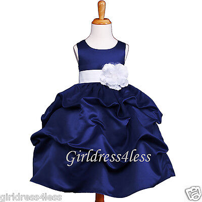 Wedding Pick-Up Flower Grils Bridesmaids Pageant Party Dress (Dress Up Gril)