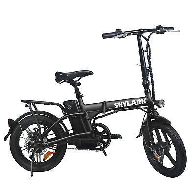 NAKTO 16'' Folding Electric Bike 250W Ebike 36V 10Ah Collapsible Moped Bicycle