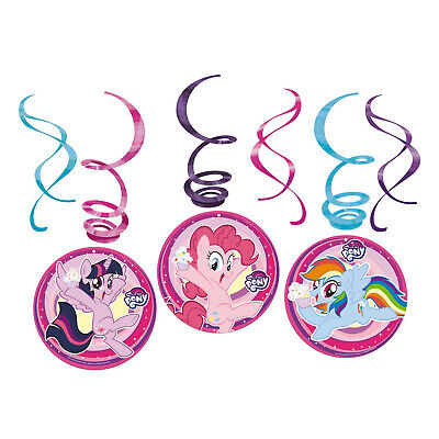 6 My Klein Pony Wirbel Wandbehang Kinder-Geburtstagsparty Dekorationen ()