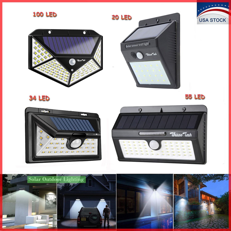 20/34/55/100LED Solar Lights Outdoor Motion Sensor Wall Ligh