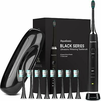 Aquasonic Whitening Toothbrush Automatic Teeth Wireless Travel Case Included