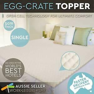 Egg Crate Mattress Topper 5cm Deluxe Underlay Foam Protector Cove Perth Perth City Area Preview