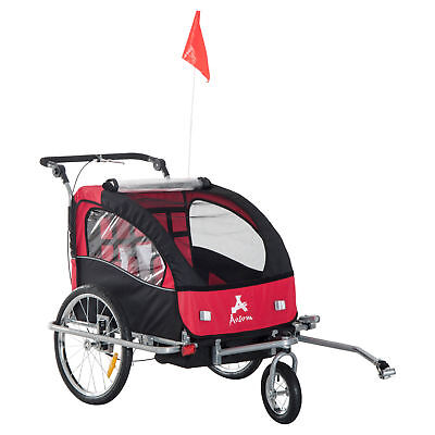 Aosom Elite II Double Baby Bike Trailer Stroller - Child Bic