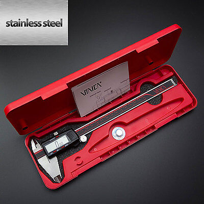 0-8 Inch/200 Digital Caliper Stainless Steel Electronic LCD Micrometer Measuring