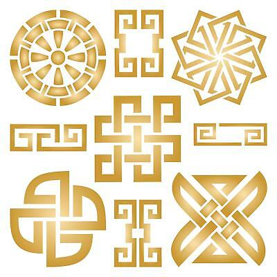Taoist Symbols Stencil Reusable For Painting Best Quality Scrapbooking Wall