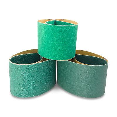 4 X 36 Inch Metal Grinding Zirconia Sanding Belts 40, 80, 120 Grits, 3 PK