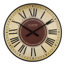 BBB81410 La Crosse Clock Co. 21 Barton Plastic Open Face Analog Wall Clock