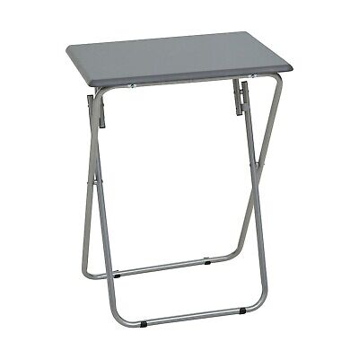 Sand Grey Sturdy Portable Snack Camping Indoor Party Picnic Desk Folding Table
