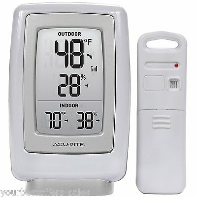 AcuRite 00611A3 Wireless Indoor Outdoor Thermometer Humidity Sensor Digital New
