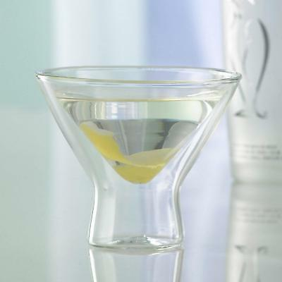 Wine Enthusiast US Kitchen Steady-Temp Double Wall Insulated Martini Glass Double Wall Martini Glass