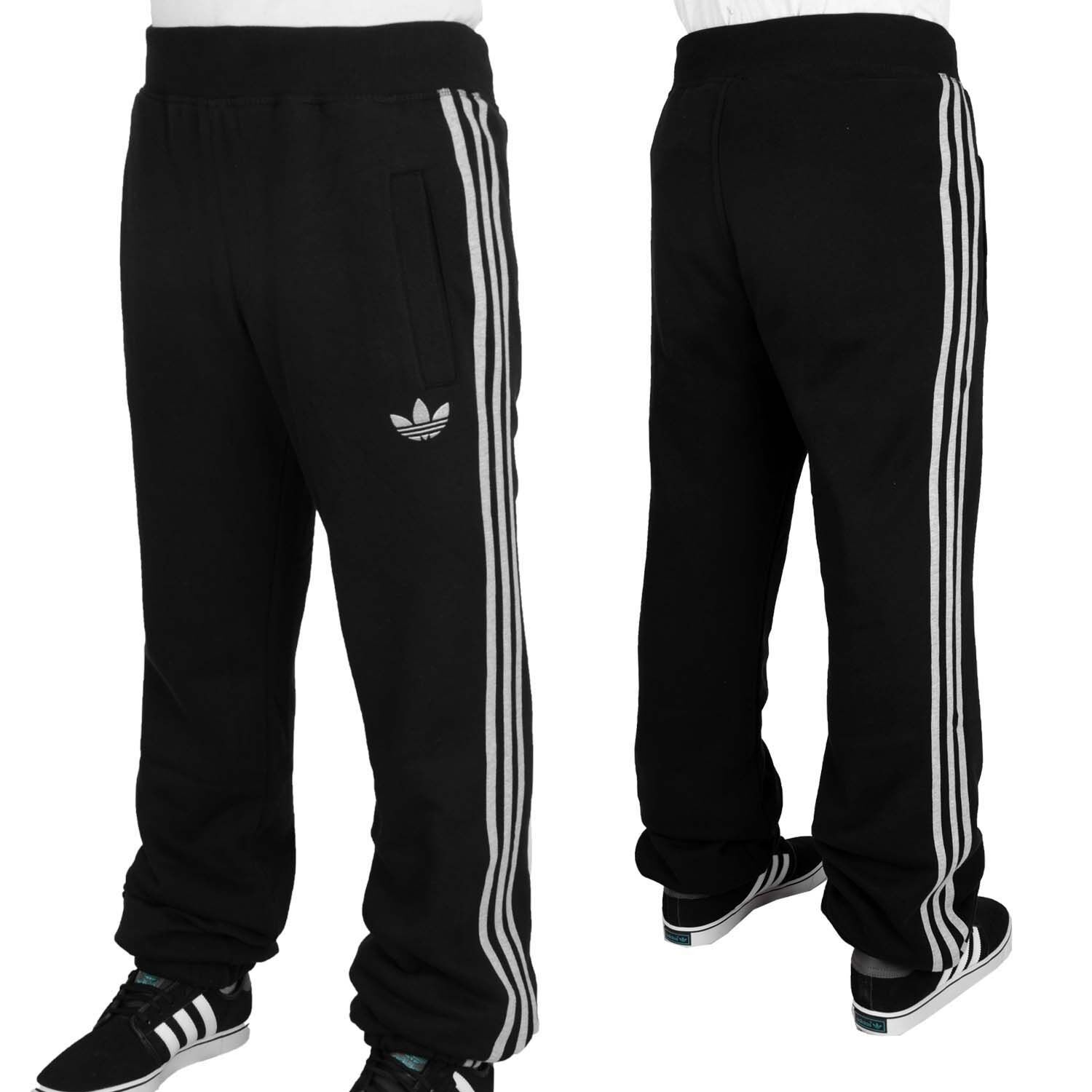 Adidas Originals SPO black grey mens fleece training sweat pants