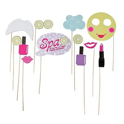 Paper Spa Party Photo Stick Props (12 Pack) on a 12