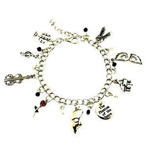 The Phantom of the Opera (9Themed Charms) Assorted Metal Charm Bracelet