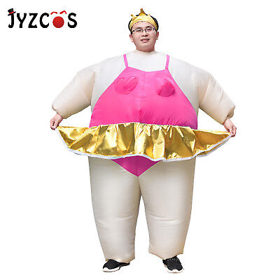 inflatable ballerina fat suit dance costume for adults halloween cosplay party