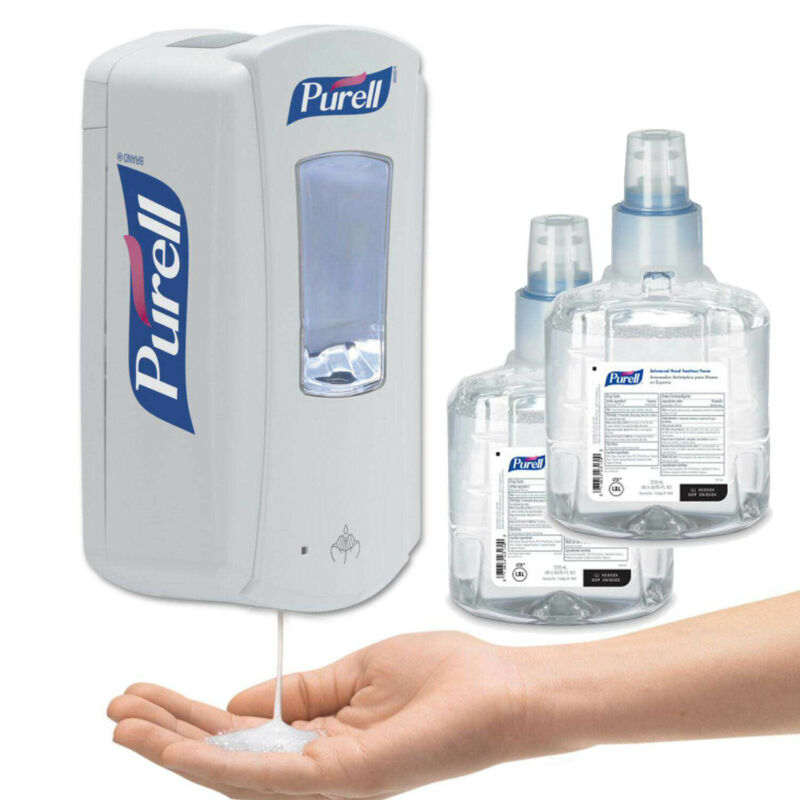 1Purell LTX-12 Touch Free Automatic Hand Dispenser with 2 1909 foaming Refills