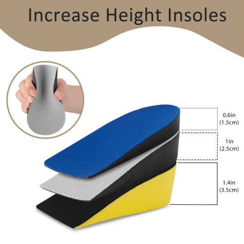 Invisible Height Increase Lift Heel Insoles Taller Enhancers Air Cushion Inserts