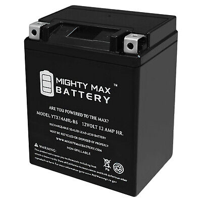 mighty max ytx14ahl 12v 12ah battery replaces
