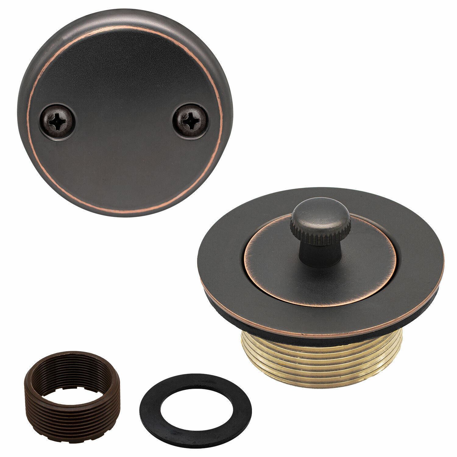Lift and Turn Bathtub Replacement Tub Drain Overflow Cover Kit Oil Rubbed Bronze Bath
